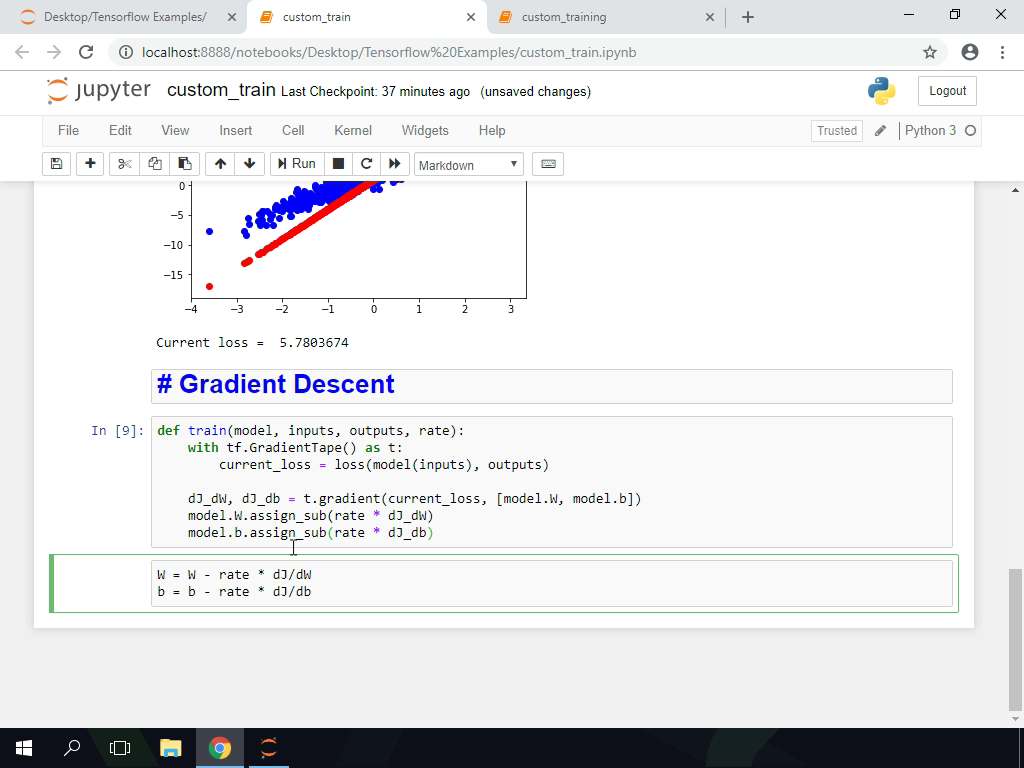 Implement Gradient Descent